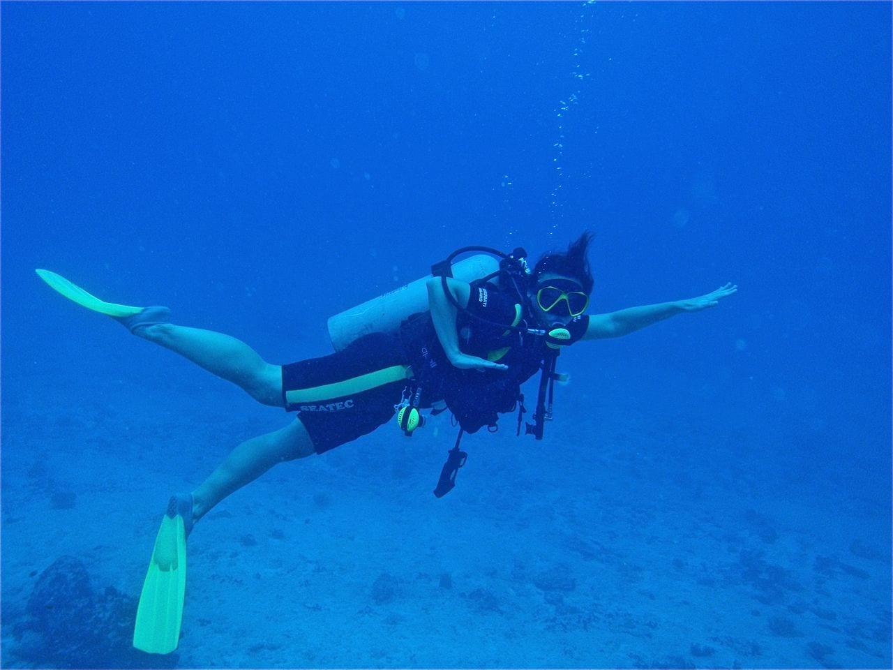 Angie Orth at the Great Sea Reef, Fiji