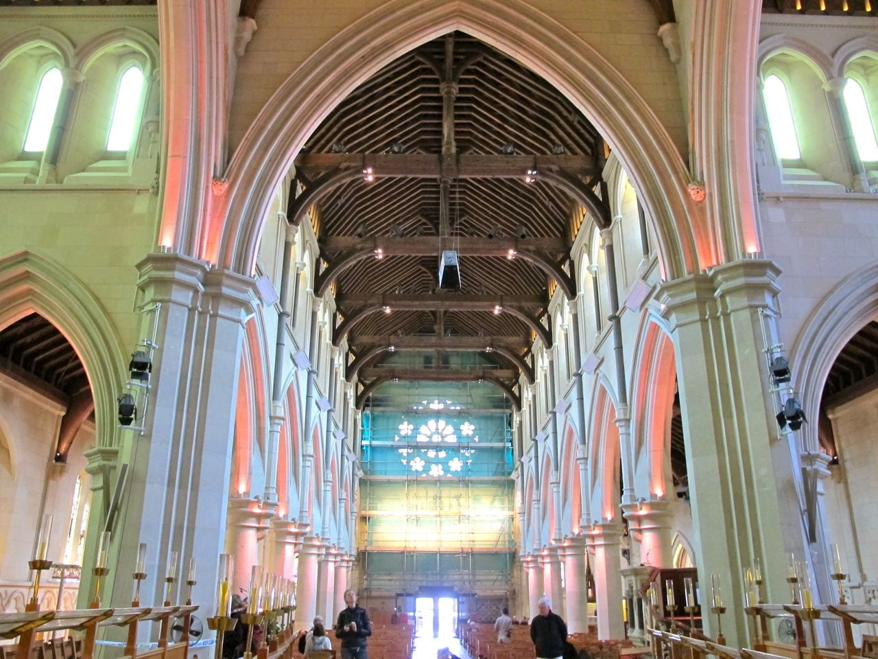 The interior of beloved Christchurch Cathedral, January 2011