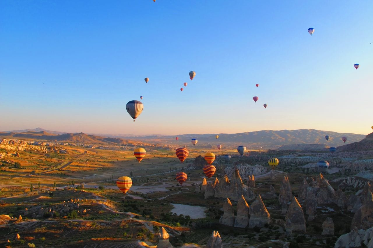 Hot Air Balloons in Cappadocia Goreme Turkey