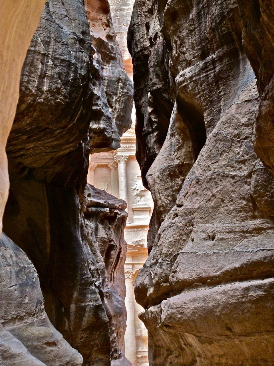 A peak at the Treasury from inside the Siq