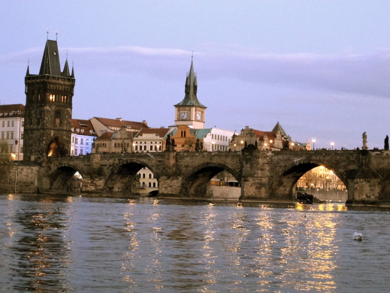 Dusk at the Charles Bridge
