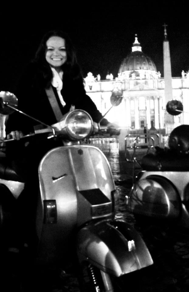 Me at the Vatican on a Vespa. What's up, Audrey Hepburn?!