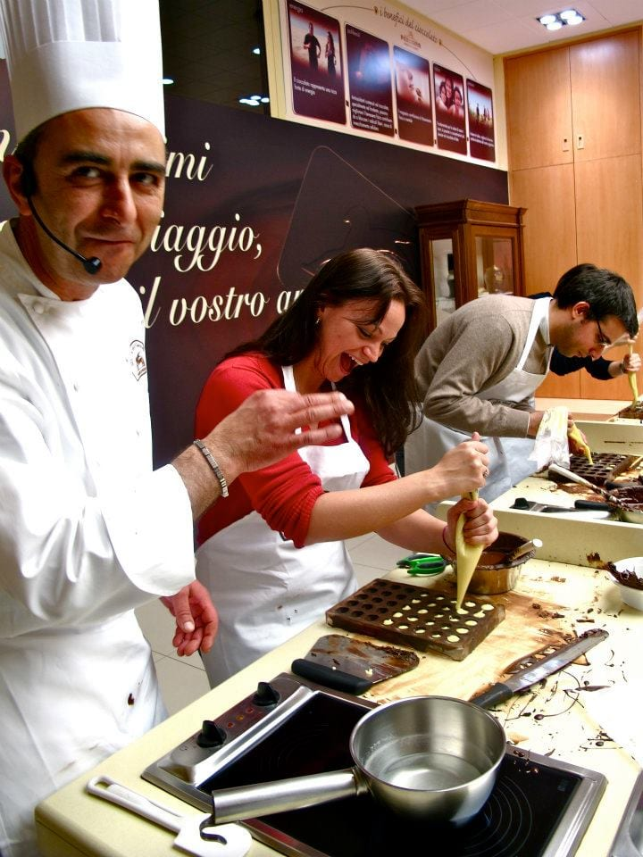 Angie Away at Perugina Chocolate School