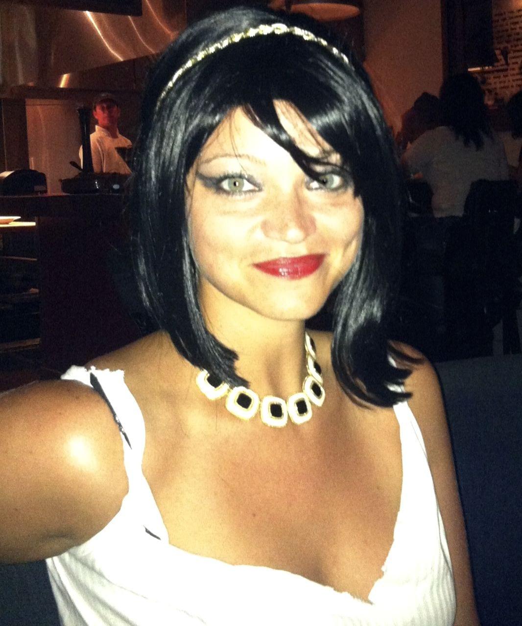 My Halloween costume: Lindsay Lohan as Elizabeth Taylor as Cleopatra