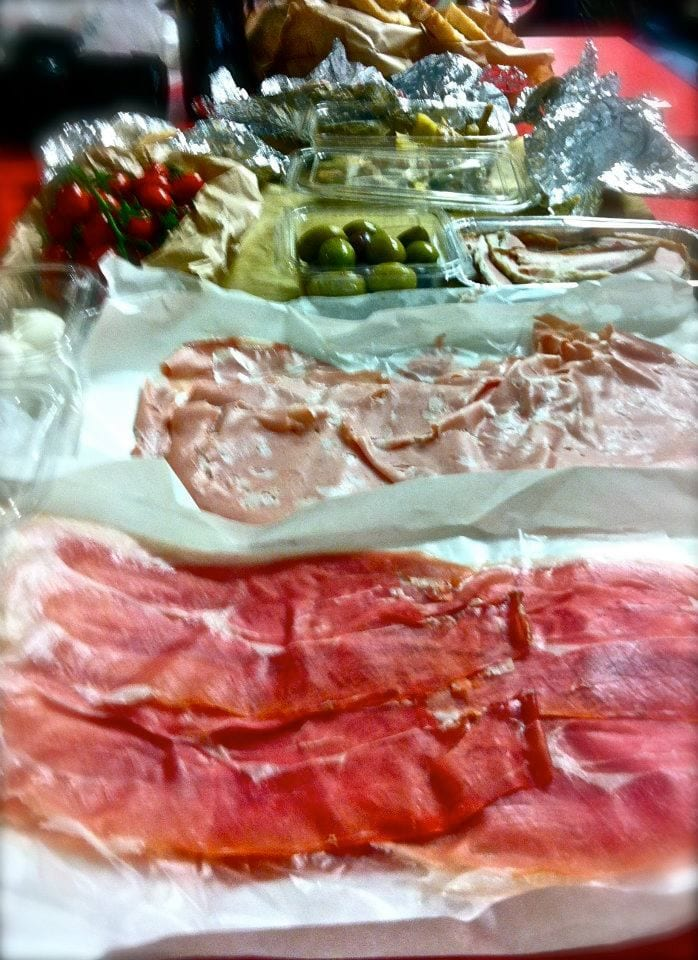 Cured meats, amazing cheeses and (blech) olives