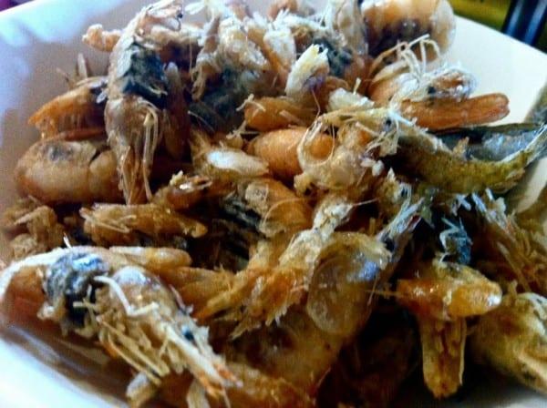 Shrimpy snacks in Comacchio