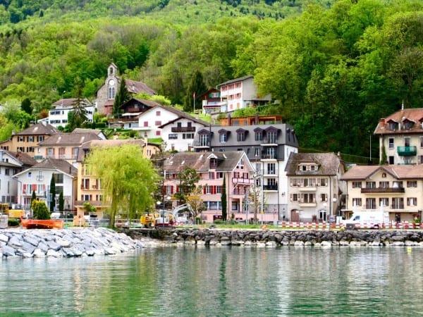 A pretty town on Lake Geneva