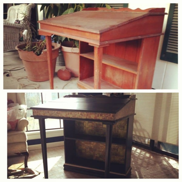 My fabulous DIY desk - I LOVE how it turned out!