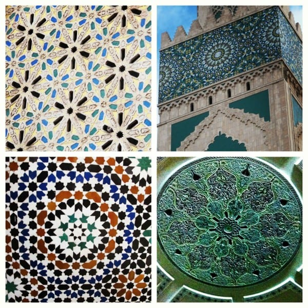 Patterns and colors from Marrakech, Casablanca and Fes