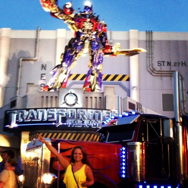 Helping to launch Transformers 3D - the Ride at Universal Orlando