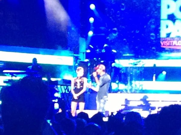 Miley Cyrus and Enrique Iglesias (surprise special guest!) introduce Mr. Worldwide himself - Pitbull!