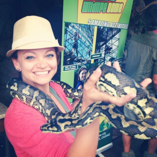Making new friends at Cairns ZOOm & Wildlife Dome. Good thing I speak Parseltongue.