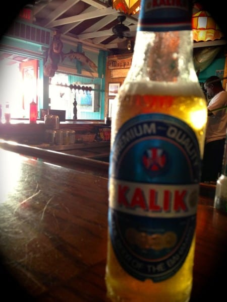 Kalik is always my first drink when I land in The Bahamas