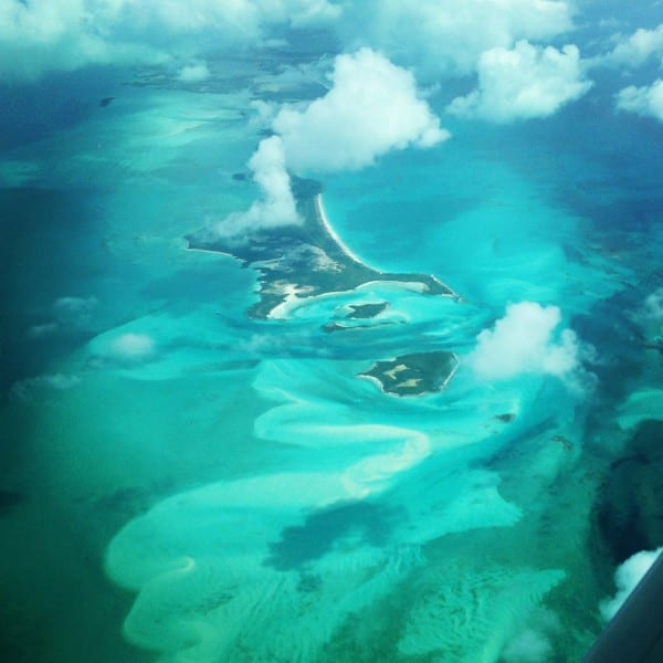 The view of the Exuma Cays Land & Sea Park... what color would you say it is?