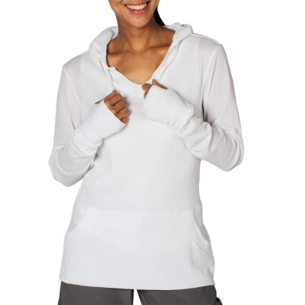 The ExOfficio BugsAway Lumen Hoody in white