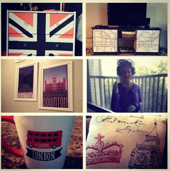 Little hints in my apartment of my love for the UK
