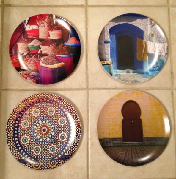 project 2 i picked four more photos from morocco and made them into plates for