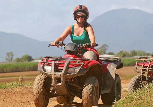 A hot and dusty day on the ATV track is better than a day of freezing rain just about anywhere, right?