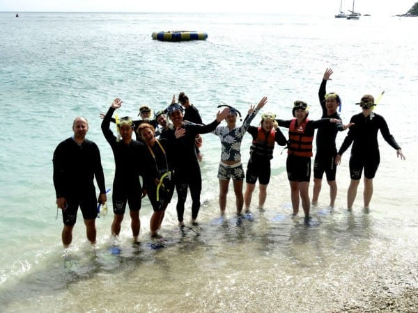 Snorkeling on the Great Barrier Reef with a group of international media. Wonderful people and such a productive week researching Queensland!