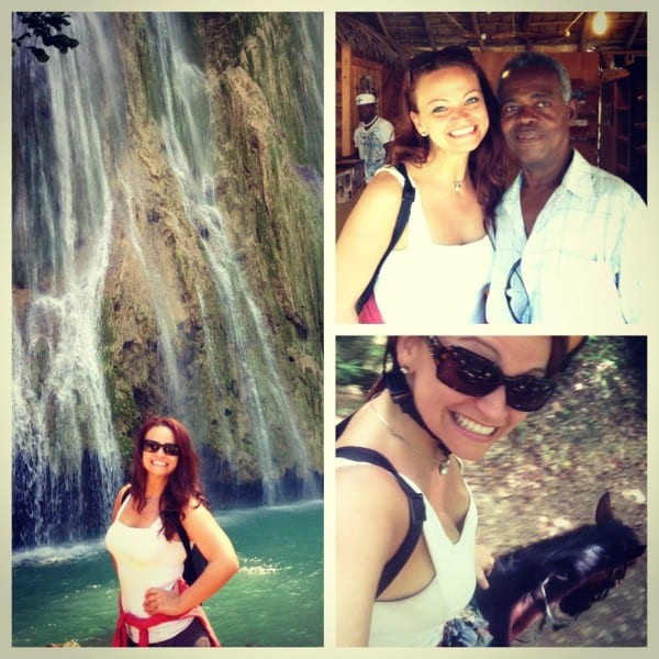 Horseback riding to a waterfall? Only if it's hot, hot, hot!