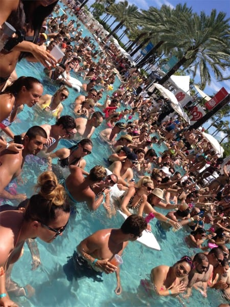 The iHeartRadio Pool Party was a steaming hot day, but everyone managed to stay cool in the Fontainebleau's pool