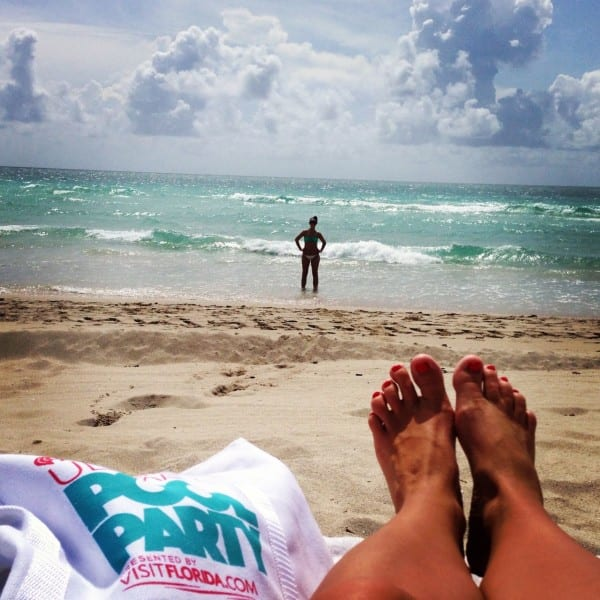 Toes in the South Florida sand - are you feeling warmed up yet?