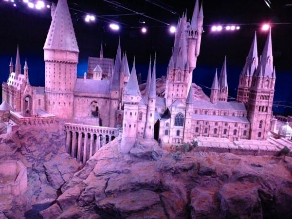 The enormous model of Hogwart's