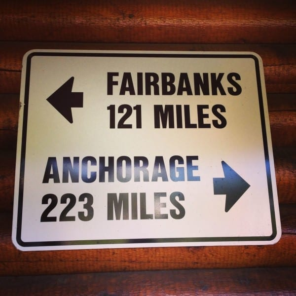 Signage at Denali Depot