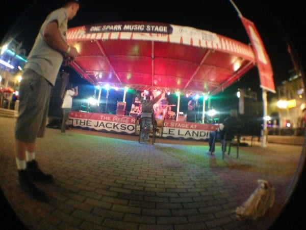 Master Radical playing on the stage at the Jacksonville Landing, a venue most famous for its role during Florida-Georgia weekend