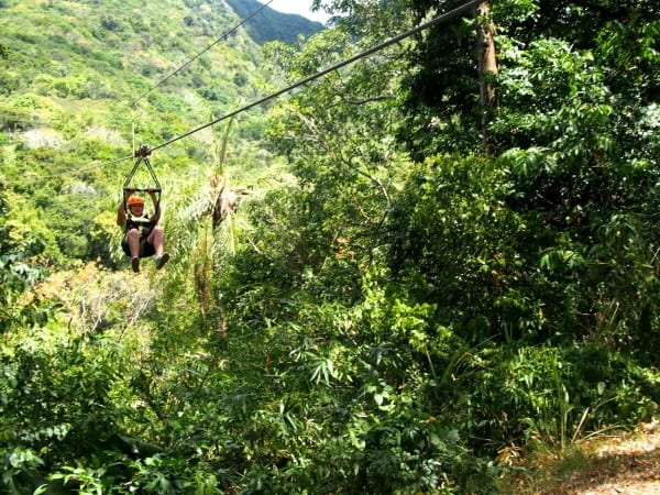 Ziplining Sky Safari St. Kitts