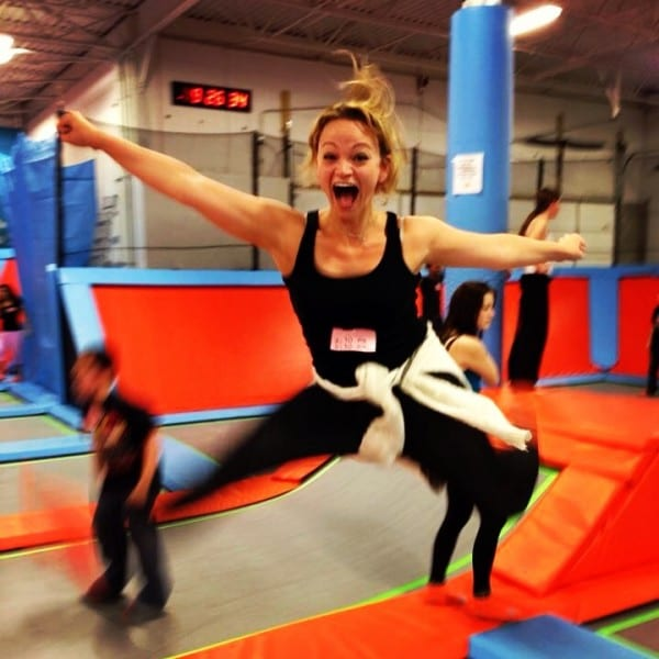 Just making sure I can still do my cheerleading jumps at Air Trampoline Sports on Long Island