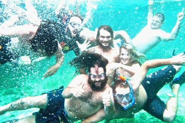 You can have hours of fun underwater - the springs are crystal clear, so they're great for taking photos!