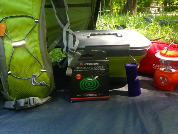 More gear from Milletts - a hydration pack, mosquito coils & a handy collapsible storage box