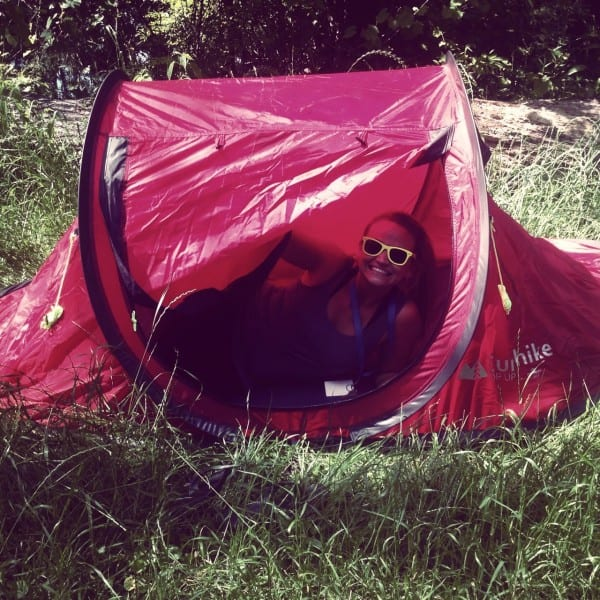 My EuroTent - isn't it cute? Perfect for hiking or someone who doesn't want bells, whistles and lots of stakes!