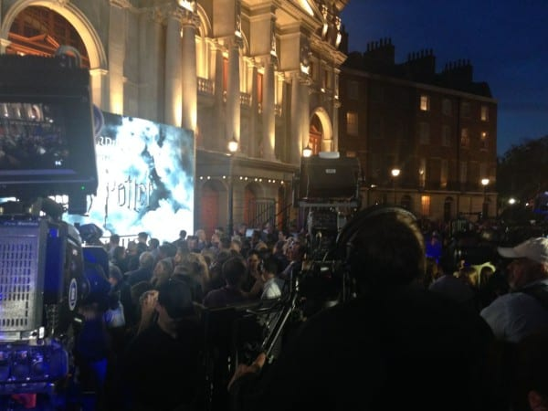 Welcoming the Harry Potter cast inside Diagon Alley during preview week red carpet event