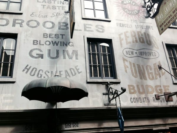 Every last detail in Diagon Alley is authentic - down to the fonts and paint colors