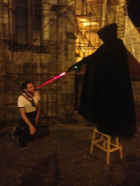Every ghost tour needs a light saber