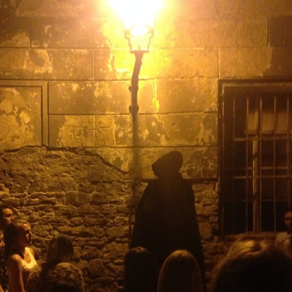 Creepy ghost tour guide - we never saw his face!