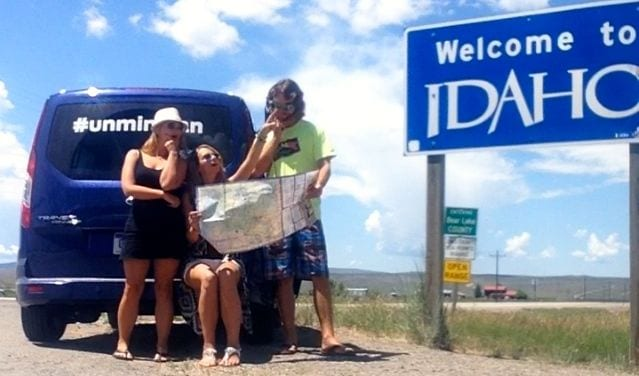 At the Wyoming/Idaho border, trying to find our way