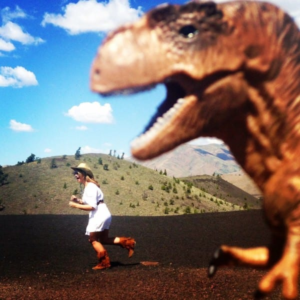 Running from T-Rex in Idaho
