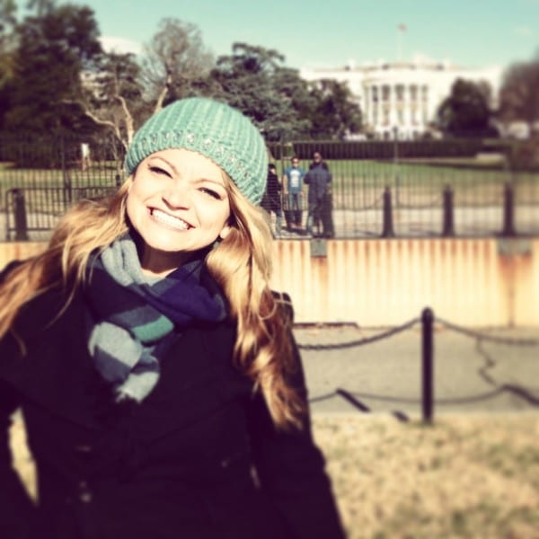 Enjoying a gorgeous sunny day at the White House