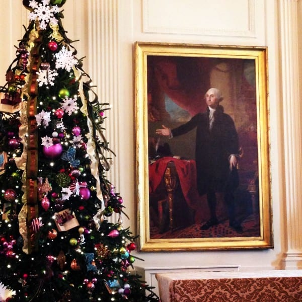 The best time to tour the White House is Christmastime!