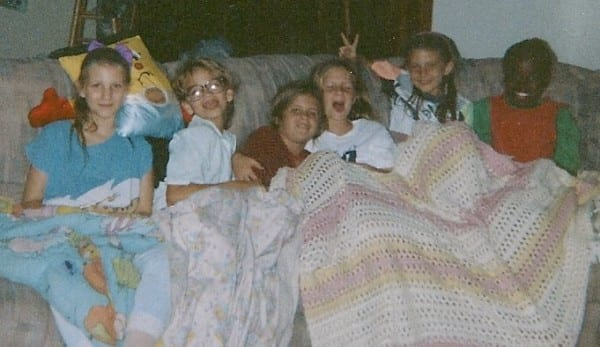 ANGIE 1990ish (I'm the nerd 2nd from left)