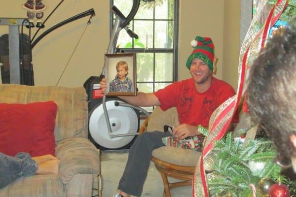 Rick enjoying Orth family Christmas traditions