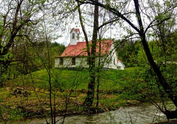 A beautiful church on the way to Foxfire Mountain