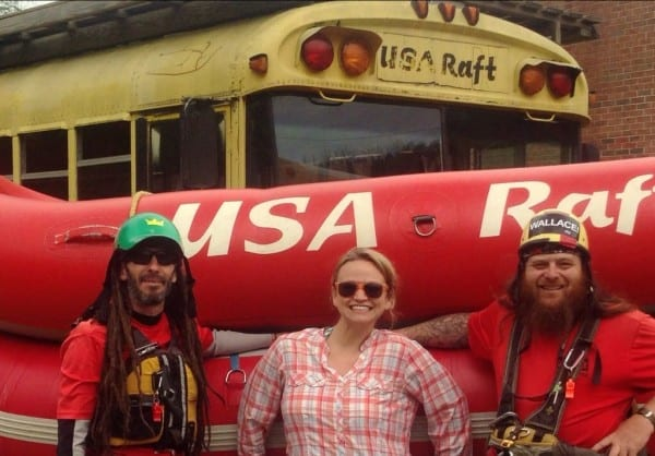 My guides Larry & Ewok at USA Raft