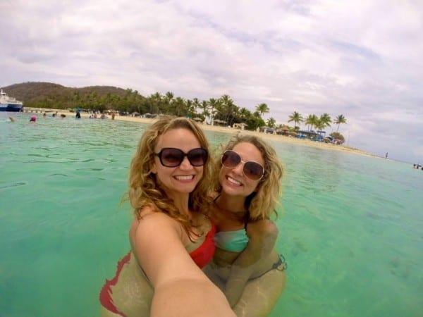 Sister swimming!