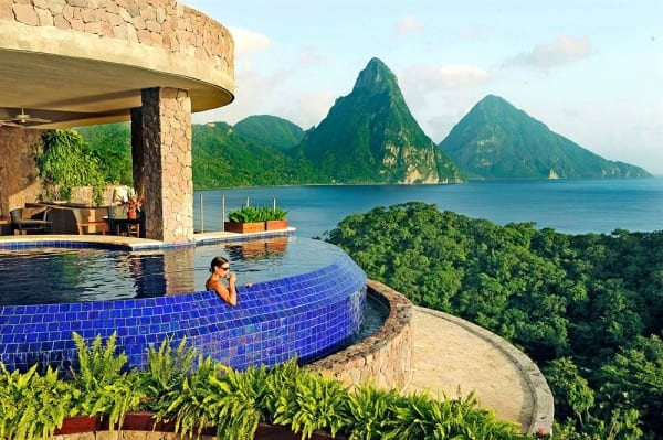 Jade Mountain in St. Lucia - have you ever seen such a beautiful view?