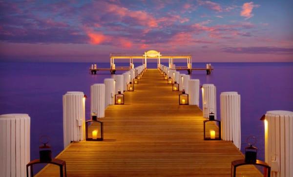 The dock at Cheeca Lodge on Islamorada