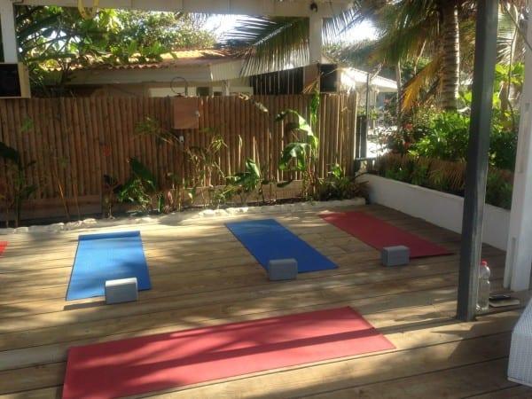 yoga at sorobon beach resort